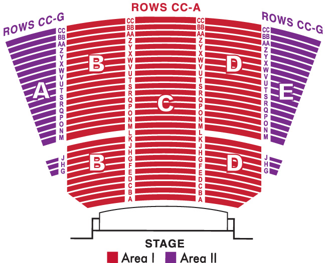 Concert Seating At Memorial Auditorium Chart